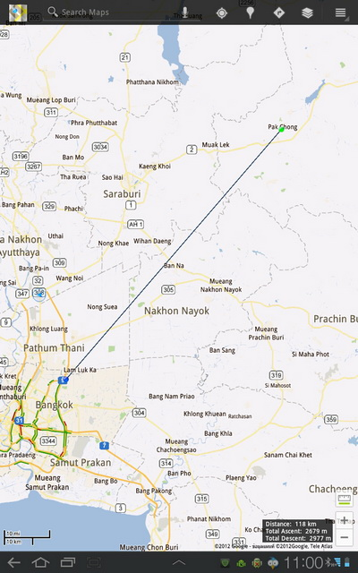 Thai Android apps advisor: Google Maps update add elevation