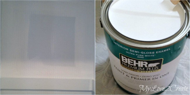 MyLove2Create, Hall Closet Makeover, fixing oops paint with behr ultra pure white