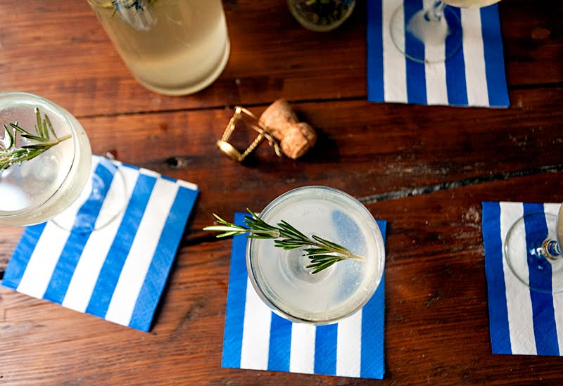 The Best Party Cocktail You'll Ever Have: A Rosemary Gin Fizz