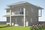 Feito de Confeito: Fachada da casa - 3D