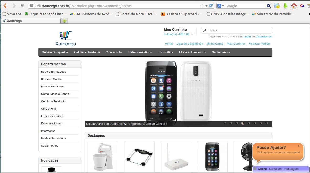 Xamengo.com.br - Sua loja na internet