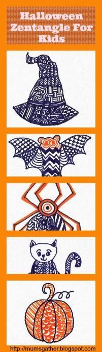Halloween Zentangle For Kids