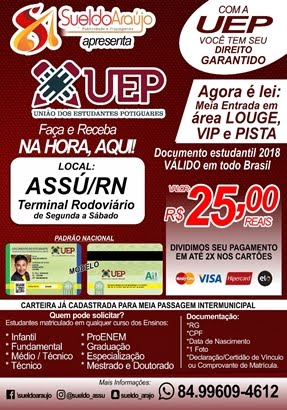 UEP - CARTEIRA DE ESTUDANTE