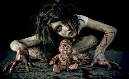 Legend of baby blue the spooky urban legend for Mirror zombie girl