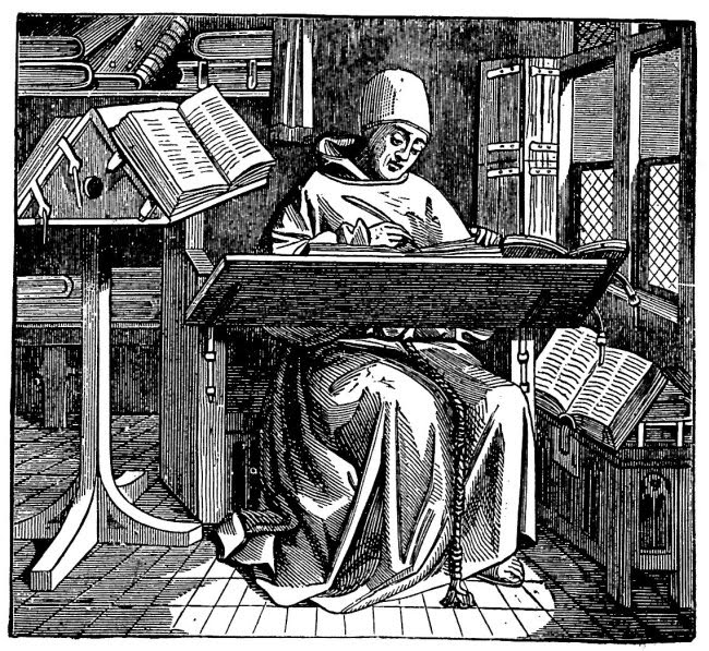 Resultado de imagen para writing monk engraving