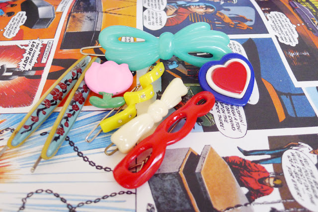 retro hair clips