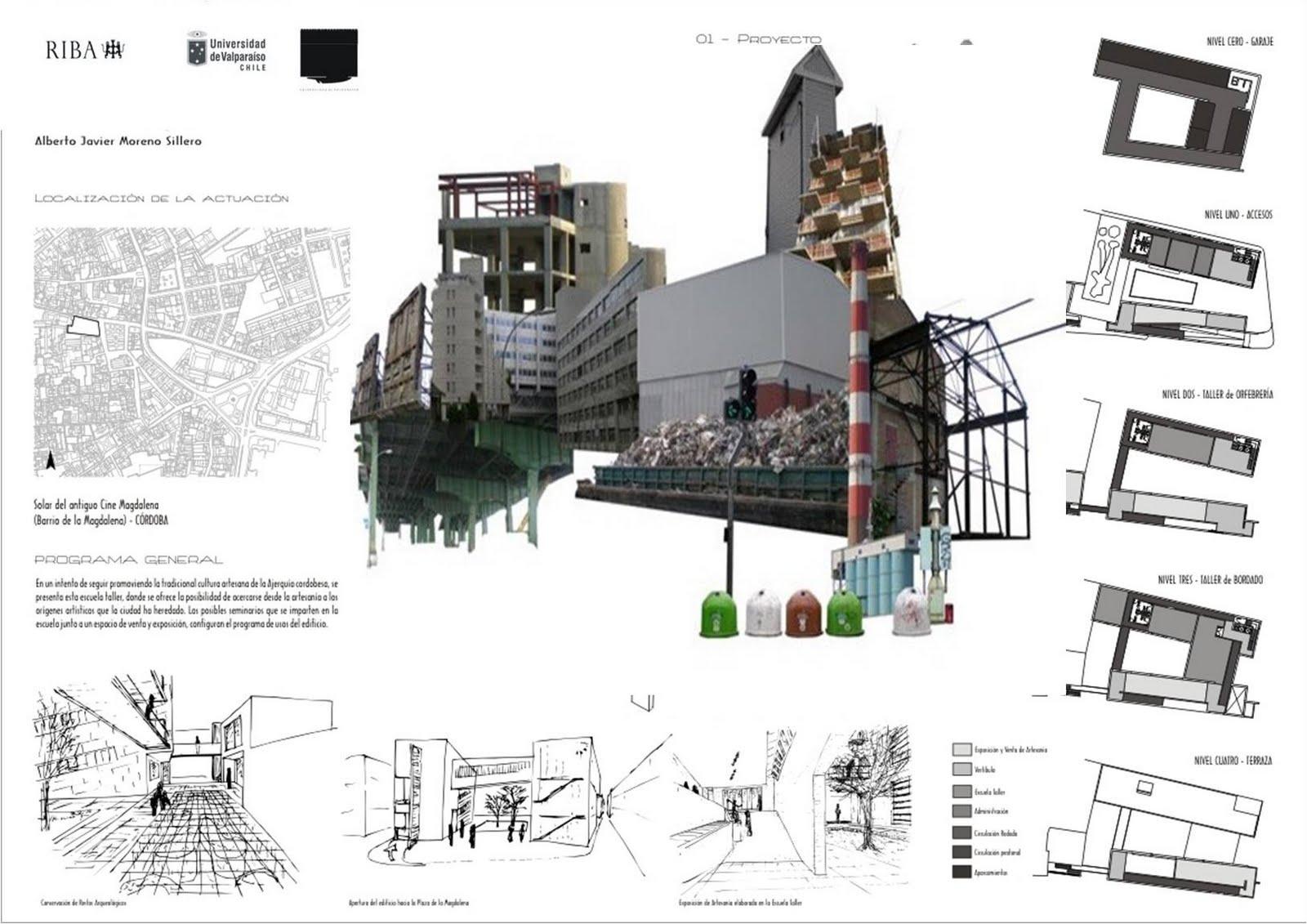 Presentacion digital avanzada de proyectos laminas de for Laminas arquitectura