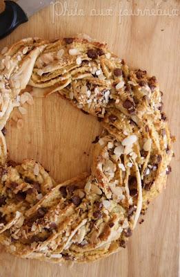 recettes  Kringle estonien aux pépites de chocolat et noix