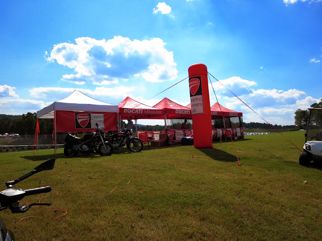 Ducati owner's tent Barber Vintage Festival