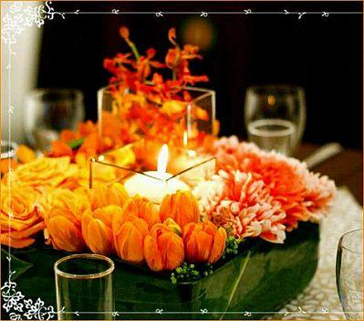 Wedding Decorations Orange Centerpieces And Flower