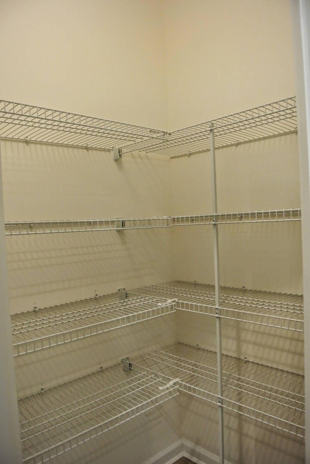 A picture of the pantry shelves