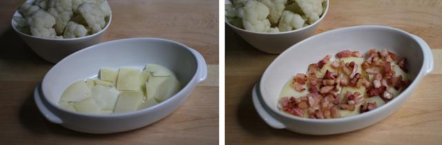 pastel de coliflor y bacon