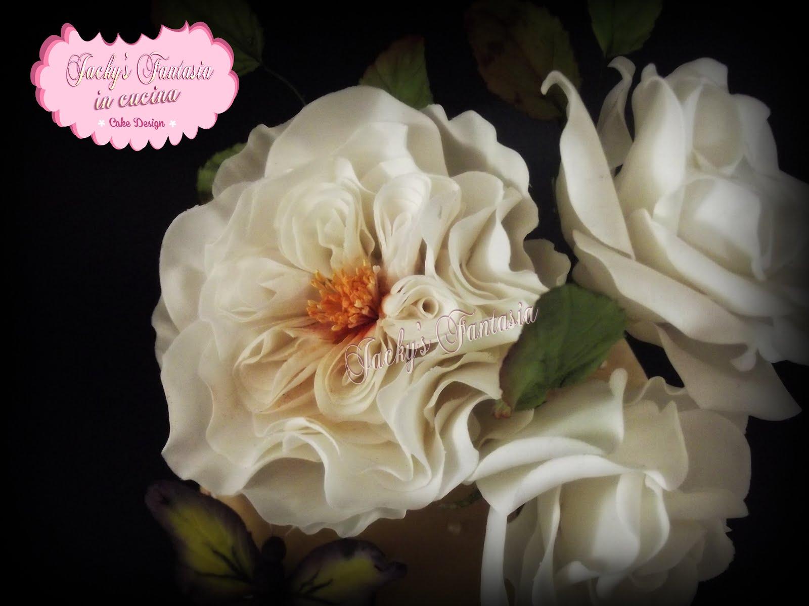Rosa inglesa in gum paste!