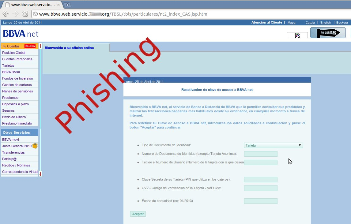 Reactivar su n mero de m vil phishing bbva for Pagina del banco exterior