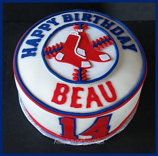 Boston Red Sox Cake Pops