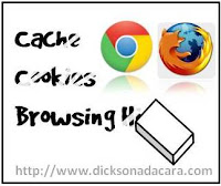 hapus data cookies dan cache browser