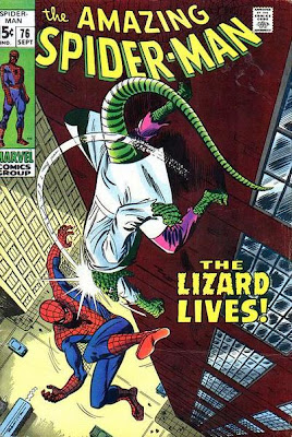 Amazing Spider-Man #76, the Lizard and the Human Torch