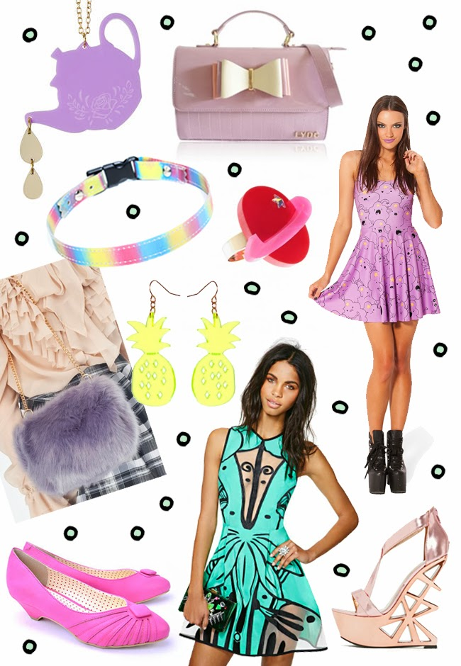 pastels, shopping, metallic, jewellery