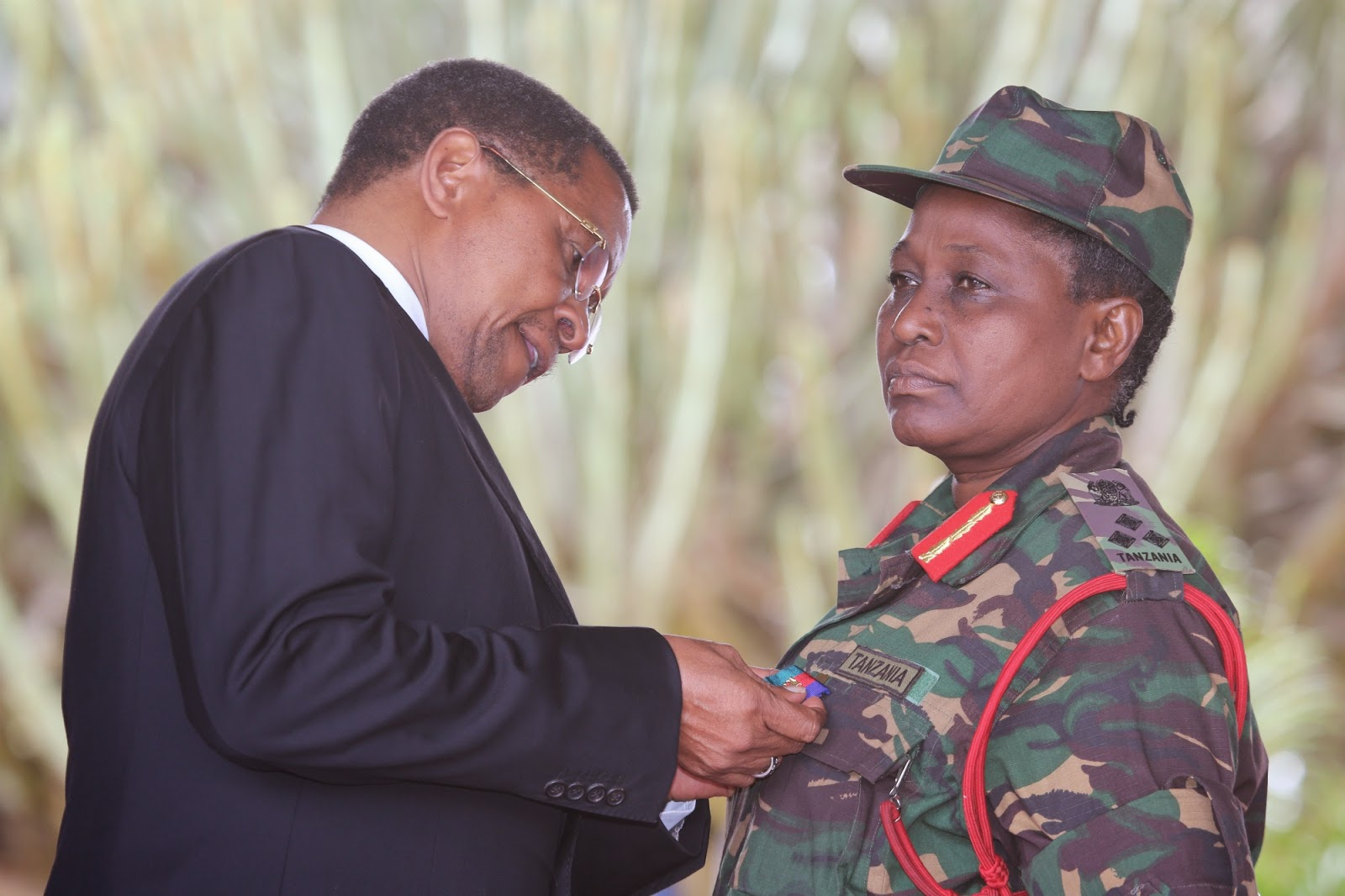 Jakaya Mrisho Kikwete medals now AU appointed Tanzanian Brig. Gen. Sara T Rwambali as Special Rep. & Liaison Office Head in South Sudan