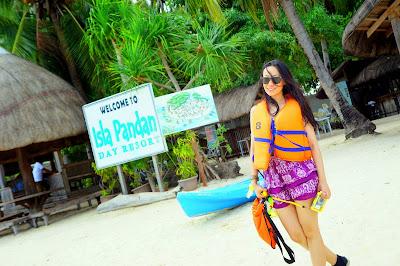Trisha Sebastian in Isla Pandan Day Resort Puerto Princesa Palawan