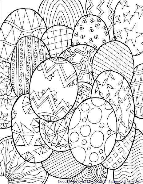 Abstract Easter Coloring Pages : Free coloring pages