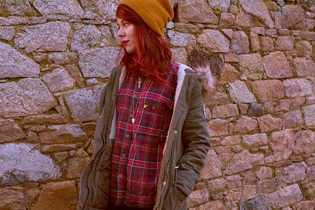 asos, BEANIE, boots, chelsea, fashion, grunge, necklace, ootd, Outfits, parka, pimkie, punk, red hair, style, vintage, zara, lookbook.nu, tartan, tumblr,