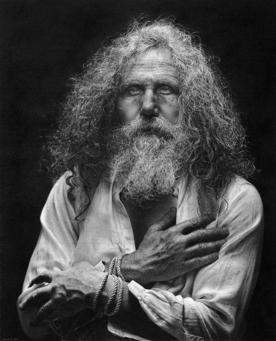 Emanuele Dascanio pinturas retratos e natureza morta hiper-realistas Velho