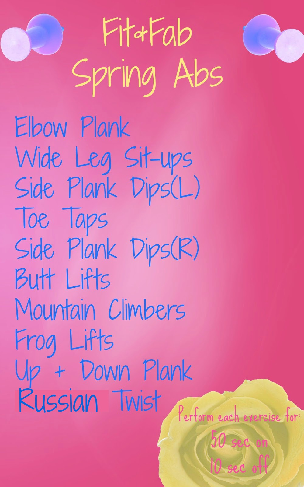 Fit Fab Spring Abs Workout