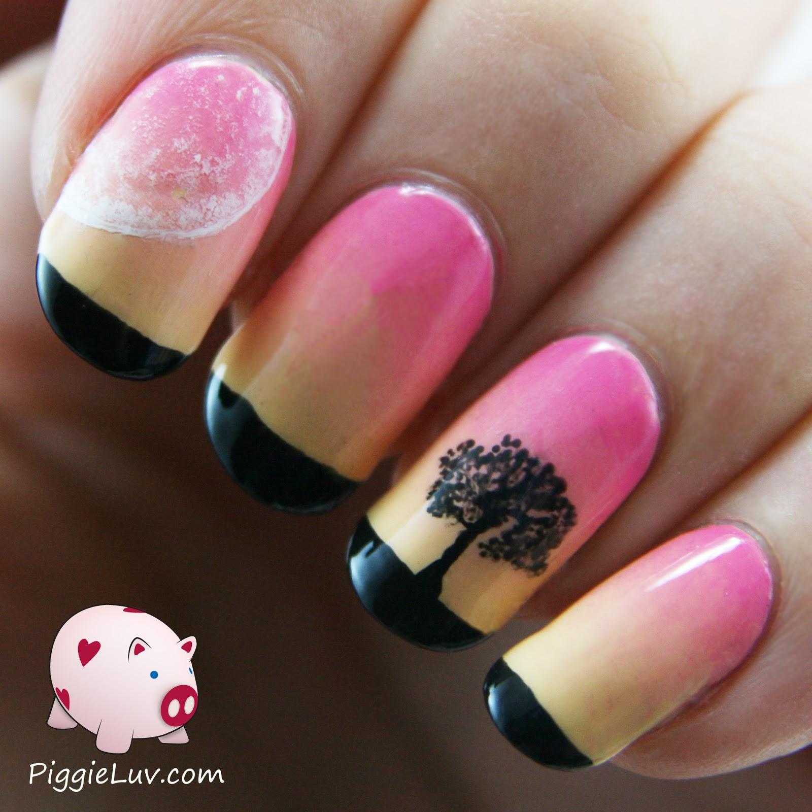 Gradient Nail Art: PiggieLuv: Soft Sunset Gradient Nail Art