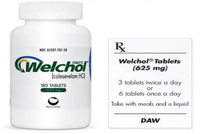 Welchol side effects
