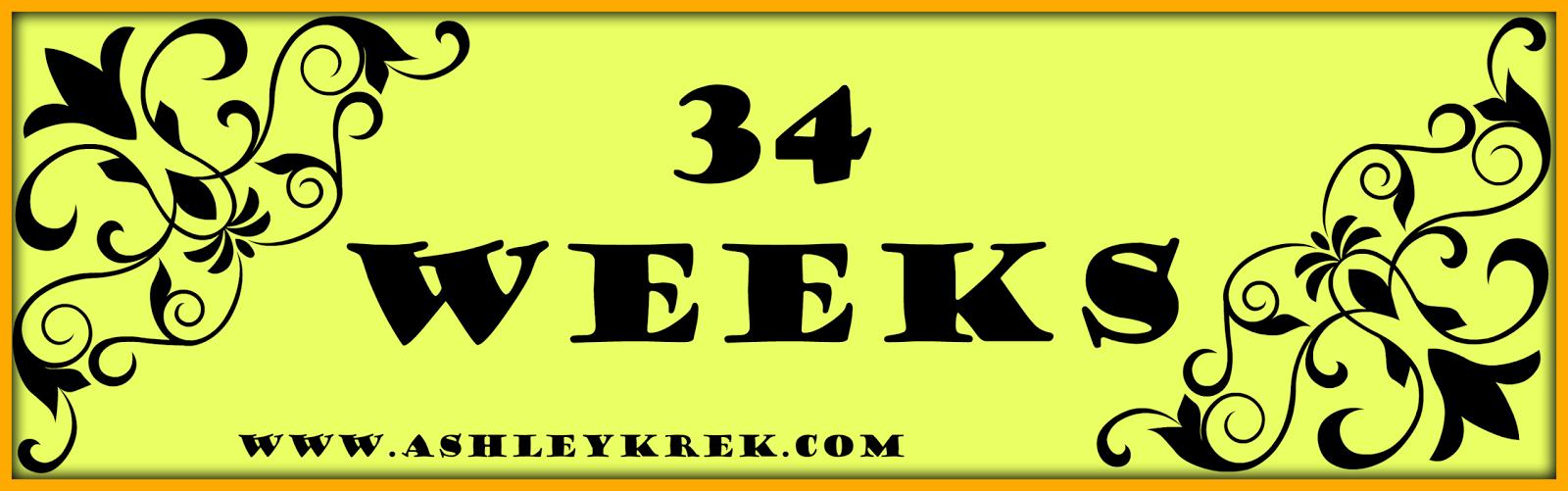 34 week baby bump