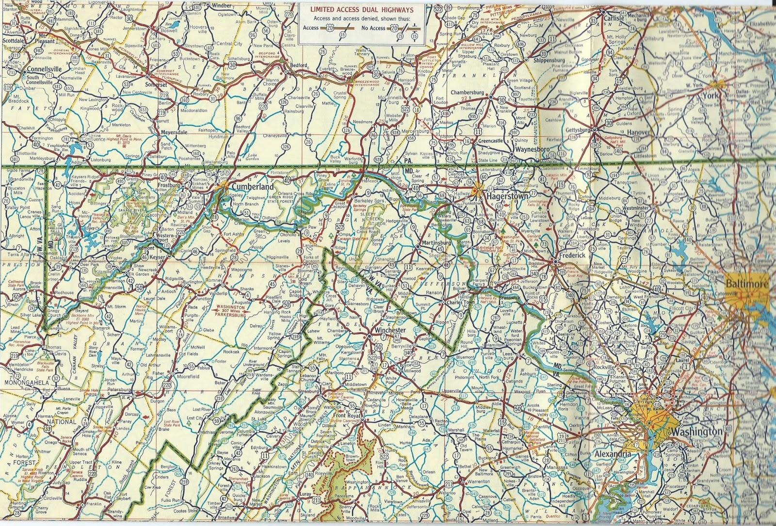 ON THE ROAD AGAIN Shell Road Map Of Delaware Maryland - Road map of delaware