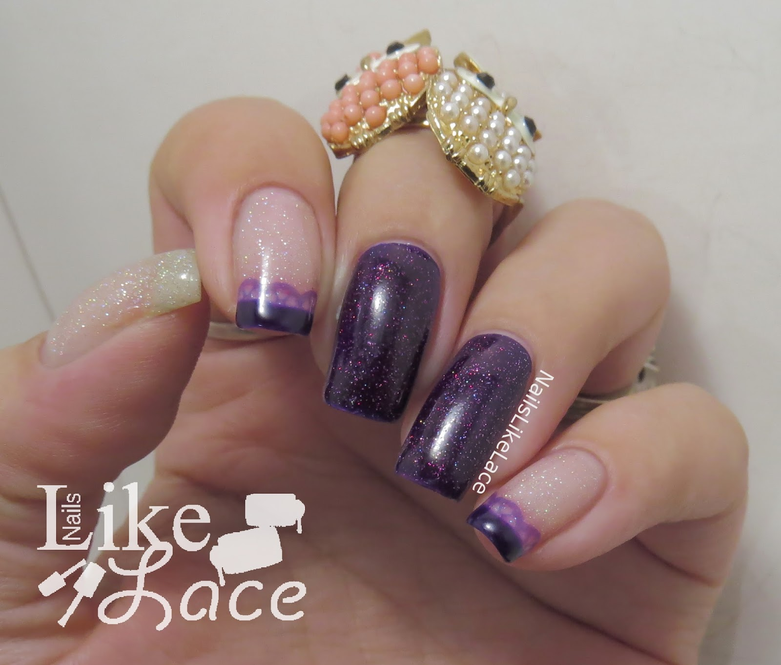 NailsLikeLace: Lacey French Tip Stamped Mani