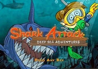 تحميل ، لعبة ، فلاش ، اون لاين ، صورة ، هجوم القرش الابيض ، Shark Attack