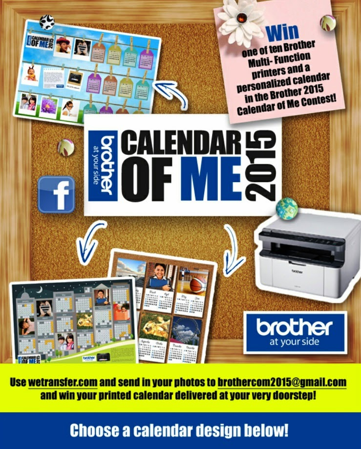 Brother 2015 Calendar of Me contest