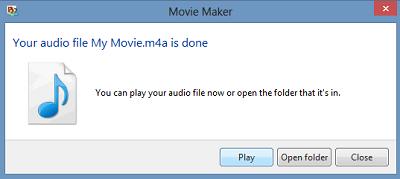 Trích xuất âm thanh từ Video với Windows Movie Maker