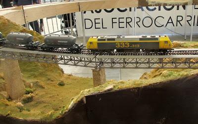 maquetismo locomotora serie 1000 lleida expo tren  salon ferroviario 2013