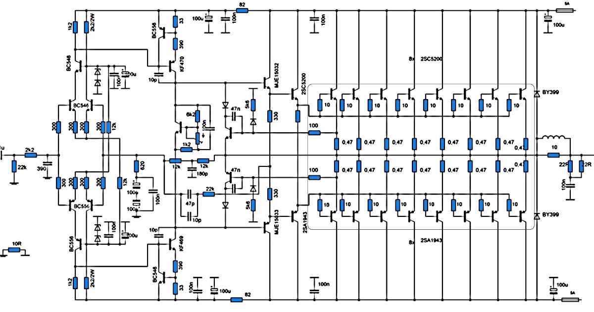 electronic components crazy fans  700w power amplifier