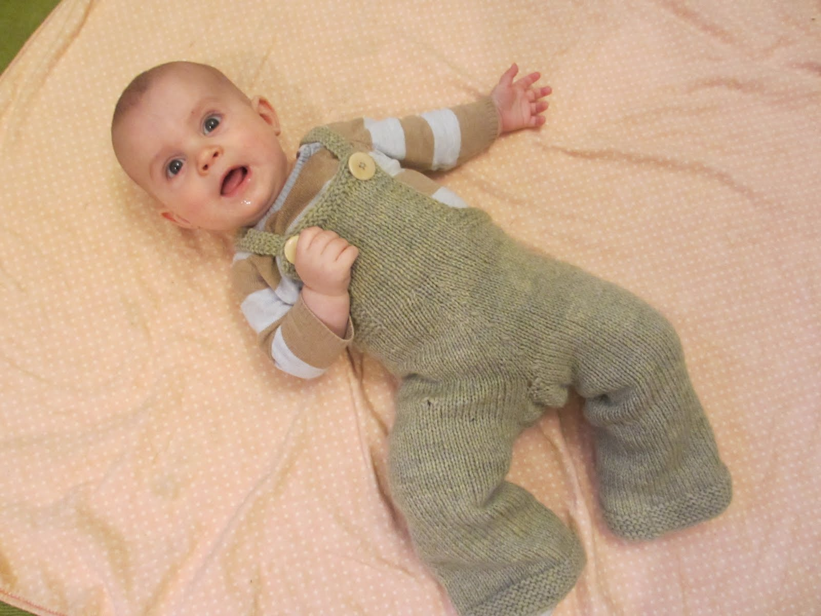 Knitting Pattern For Toddler Overalls : Tree Peeps: Knit Overalls