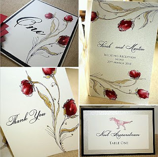 Wedding Cards and Invitations with Roses