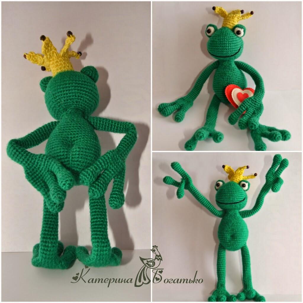 Лягушка handmade. Зачарованный принц. Вязание крючком 95
