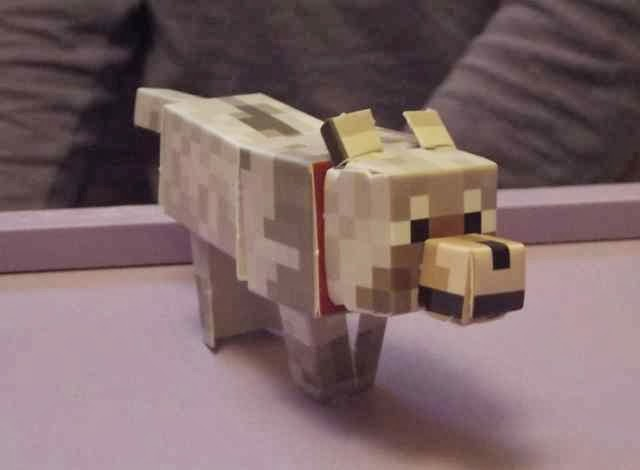 Minecraft paper craft shelter tame wolf