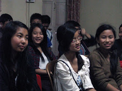 Young people watching animation at the Kids Learning Centre in Dimapur
