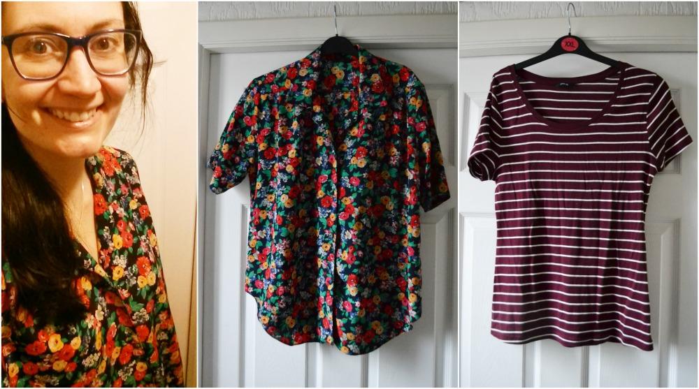 vintage blouse shirt charity shop stripe tshirt george asda