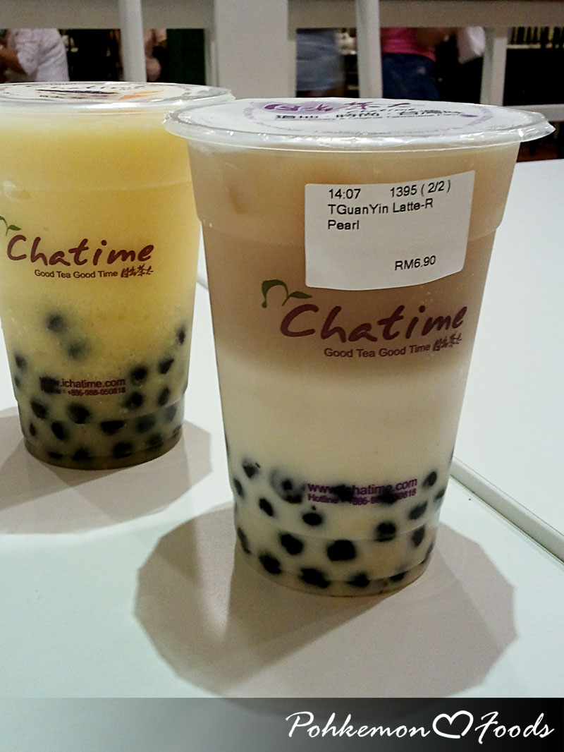 Chatime herbal tea -  Is You Can Eat With Chatime And Now I Can Enjoy The Traditional Bkt With Newly Style Tie Guan Yin Latte Instead Of The Tie Guan Yin Chinese Tea Haha