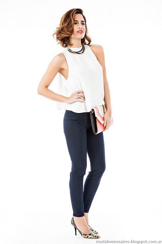 Pantalones de verano y tops moda primavera verano 2015.