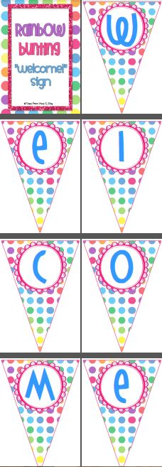 http://www.teacherspayteachers.com/Product/Welcome-Bunting-1262088