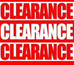 CLEARANCE!!