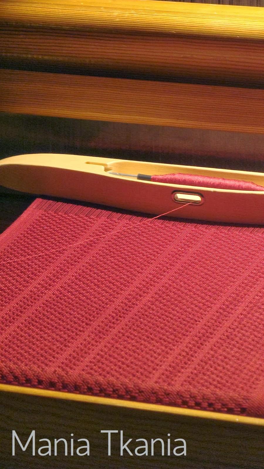 ręcznie tkany szal huck spot