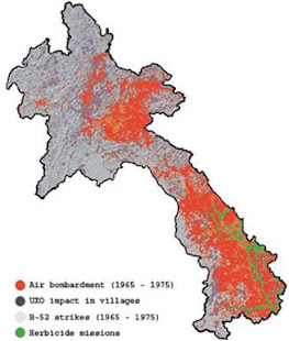 UXO Contamination Status- Laos